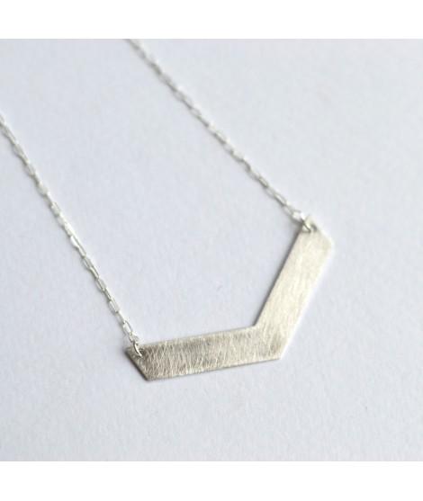 zilveren halssnoer driehoek - FIGURES by Fleurfatale