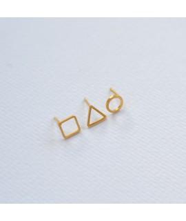 Threesome goudvergulde ooknopjes by Fleurfatale
