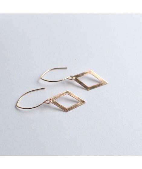 GEOMETRICS  goud vergulde oorbellen by Fleurfatale
