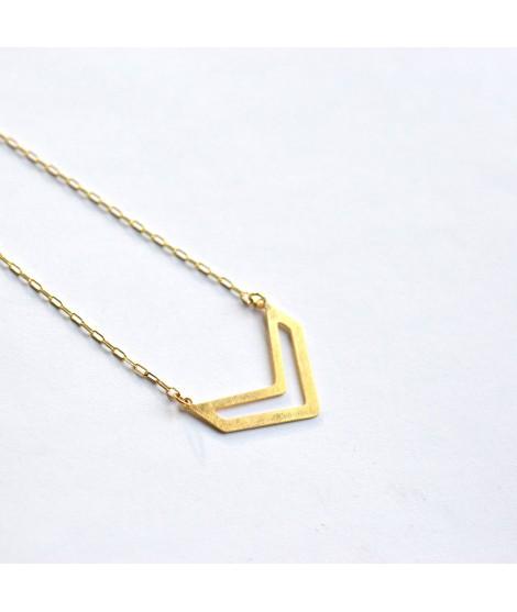 FIGURES goud vergulde halsketting by Fleurfatale
