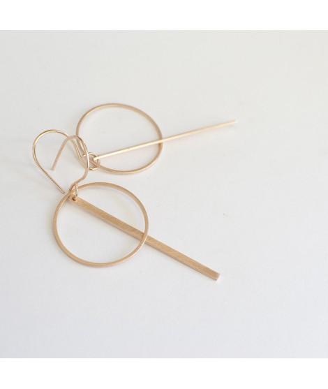 ETOILE rose vergulde oorbellen by Fleurfatale