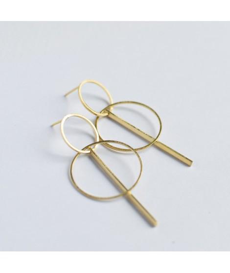 ETOILE  goud vergulde oorbellen by Fleurfatale
