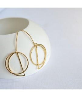 MOON goudvergulde of zilveren oorbel by Fleurfatale