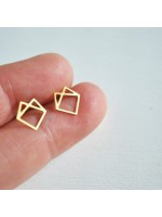 zilveren of gouden vos oorstekers by fleurfatale uit gent