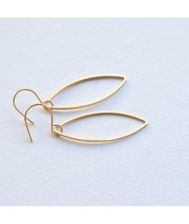GOCCIA  goud vergulde druppel oorbellen by Fleurfatale