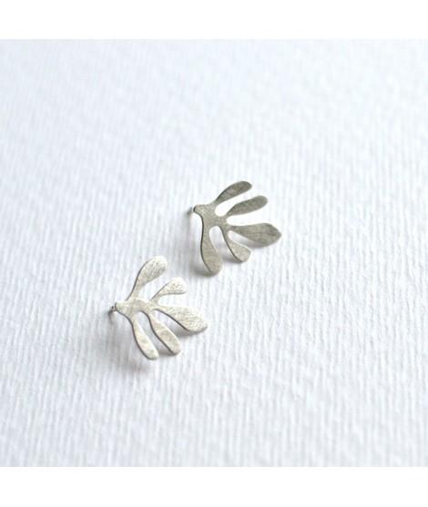SIREN  sterling zilverenoorbellen by Fleurfatale