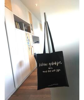 Kleine Gelukjes Zak  - tote bag of draagtas in katoen