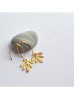 SIREN goud vergulde oorbellen  by Fleurfatale