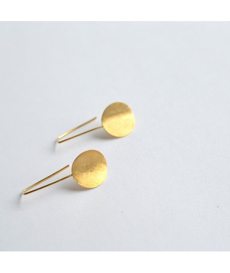 MOON goudvergulde oorbellen by Fleurfatale
