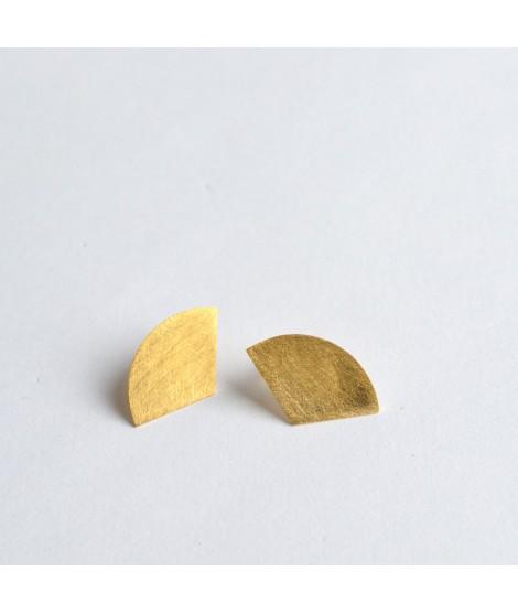 GEOMETRICS goudvergulde oorbellen by Fleurfatale