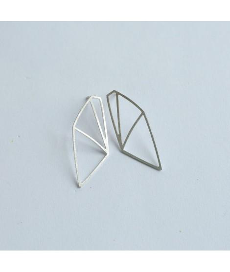 FRAGILE/NOTFRAGILE sterling zilveren oorbellen by Fleurfatale
