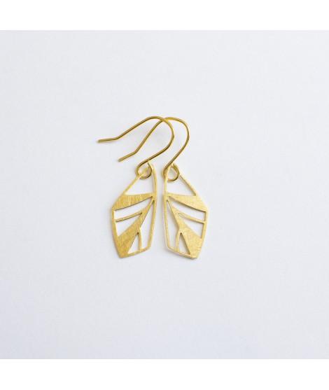 FRAGILE/NOTFRAGILE goud vergulde oorbellen vlinder by Fleurfatale
