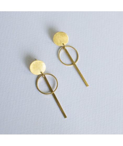 CIRCULAR gouden oorbellen cirkel by Fleurfatale