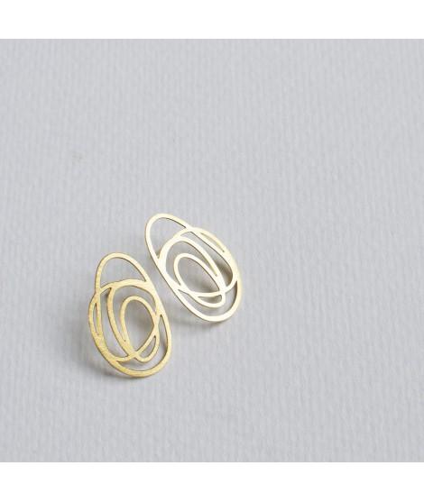 RIPPLE goudvergulde oorbellen by Fleurfatale