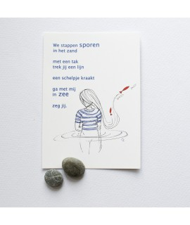 Postkaart - van de Zee en de Liefde