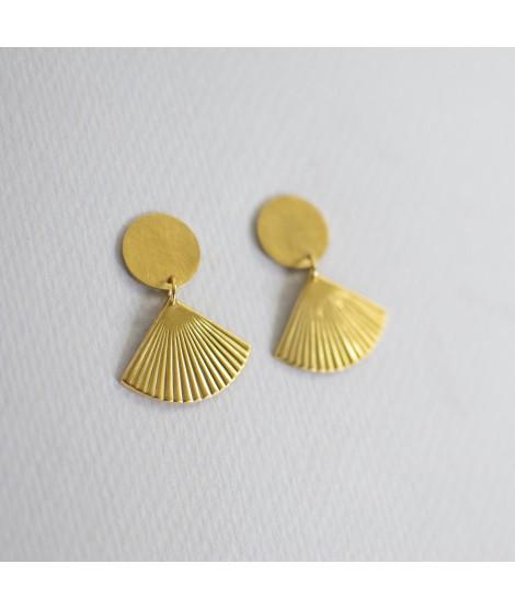 FRIDA goudvergulde oorbellen art deco by Fleurfatale