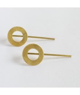 CIRCULAR  grote goud vergulde cirkel statement  oorbellen by Fleurfatale