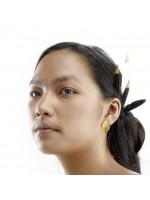 GOCCIA goudvergulde druppel oorbellen by Fleurfatale