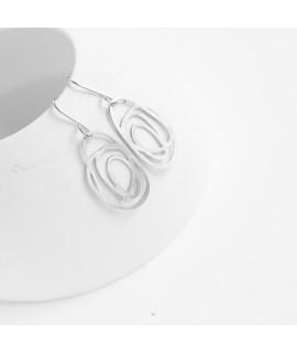 RIPPLE zilveren oorbellen small by Fleurfatale
