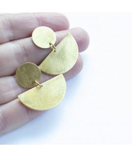 CIRCULAR  grote goudvergulde oorbellen by Fleurfatale