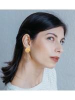 CIRCULAR grote cirkel oorbellen goud verguld by Fleurfatale