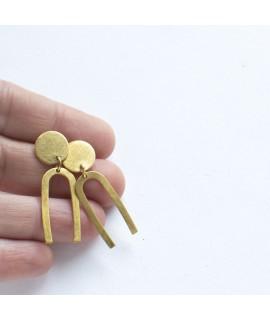 FRIDA geelgouden oorbellen by Fleurfatale