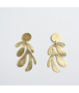 SIREN goud vergulde zeewier oorbellen by Fleurfatale