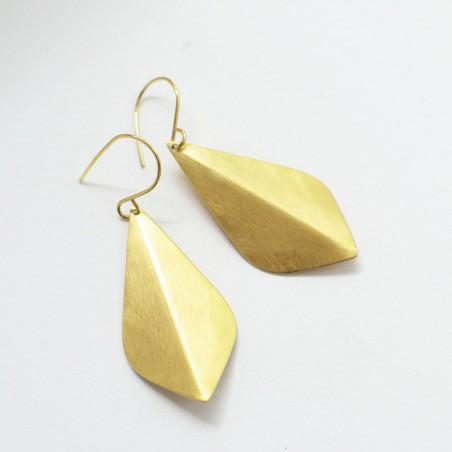 SOPHIA goud vergulde druppel oorbellen by Fleurfatale