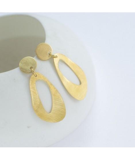 SOPHIA  goud vergulde oorbellen by Fleurfatale