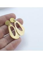 Handgemaakte goud vergulde oorbellen by Fleurfatale uit Gent