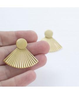 FRIDA (large version) gouden waaier oorbellen by Fleurfatale