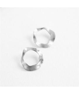 AMINA oorbellenin zilver  by Fleurfatale
