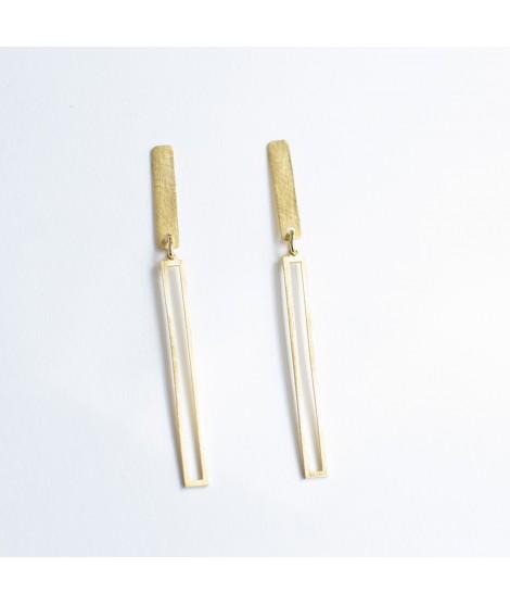 TWIN lange goud vergulde staafjes by Fleurfatale