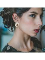 SOPHIA Goudvergulde oorbellen by Fleurfatale