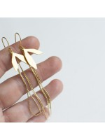 SIREN goudvergulde blaadjes oorbellen by Fleurfatale