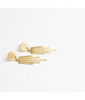 AYMARA  gouden kwastje oorbel by Fleurfatale