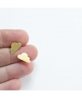 PETITES WOLK goudvergulde oorknopjes by Fleurfatale