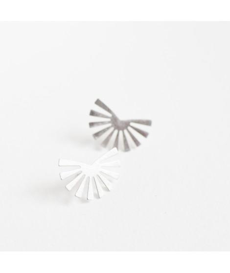 zilveren zon/bloem oorstekers aymara