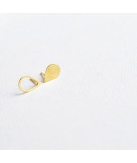 ASSYMETRISCHE goud vergulde oorbellen druppel by Fleurfatale