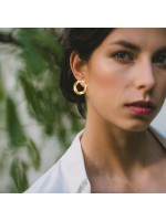 goud vergulde oorbellen by Fleurfatale