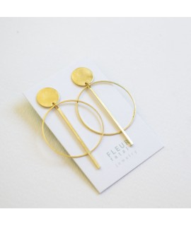 goudvergulde cirkel oorbellen by Fleurfatale