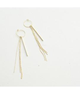 AYMARA  Goud vergulde staafjes oorbellen by Fleurfatale