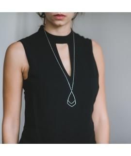 FIGURES  zilveren geometrische halsketting by Fleurfatale