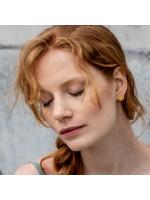Nuria goud vergulde oorbellen cirkel by Fleurfatale