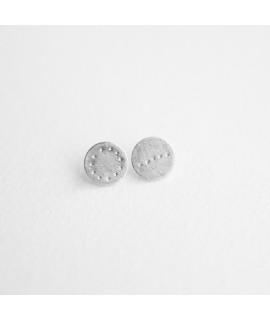 Nuria zilveren oorbellen cirkel by Fleurfatale