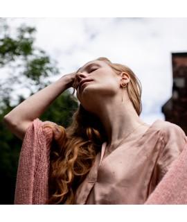 Nuria Goudvergulde oorbel met staafje by Fleurfatale