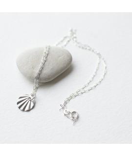 Nuria zilveren halsketting cirkel by Fleurfatale