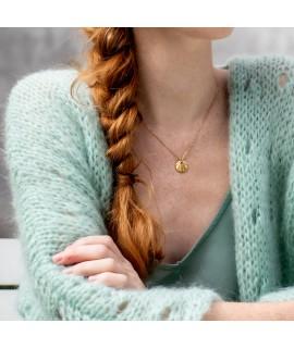 Nuria goud vergulde halsketting cirkel by Fleurfatale