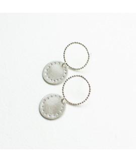 zilveren oorbellen cirkel by Fleurfatale