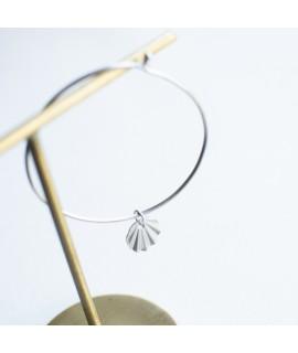 Nuria zilveren of goud vergulde halsketting cirkel by Fleurfatale